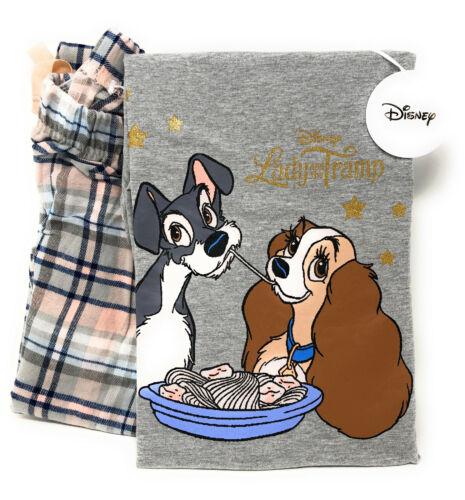 Disney Susi und Strolch Damen Pyjama Schlafanzug Shirt Hose Lang L-XL Primark