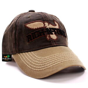 RNT RICH-N-TONE DUCK HAT BALL CAP WAXED VISOR WITH LOGO DUCK GOOSE ... b37f34fa4369