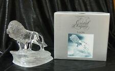 Cristal d'Arques Lion Lead Crystal Figurine Figure NEW sculpture cat
