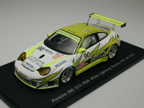Spark 1 43 Porsche 996 GT3 RSR White Lightning Racing LeMans 2006 from Japan