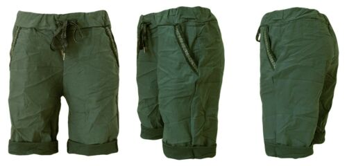 36-40 DENIM SHORTS Shorty Jeans 42 kurze Damen Jeanshose viele Farben Gr