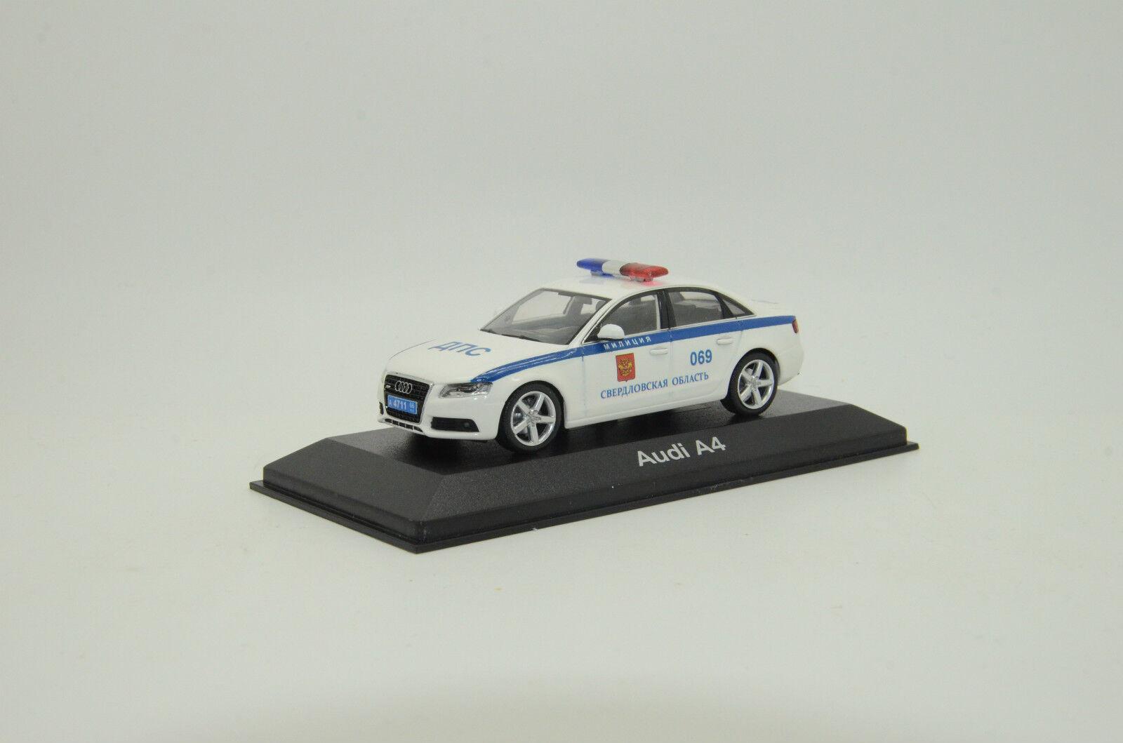 rara Audi A4 policía milicya ruso Hecho a Medida 1/43