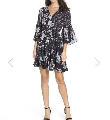 NWT French Connection Ellette Crepe Faux wrap Dress Size 0 ...