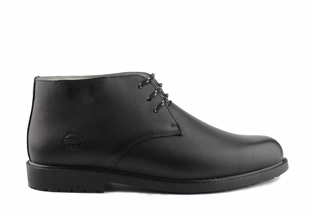 Plena flor a prueba de agua Chukka botas Satin Negro Nuevo Ñandú Calzado