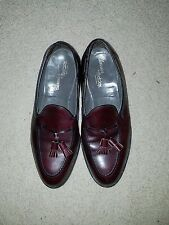 Classics by Footjoy Dark Burgundy Leather Tassel Loafers Shoes Men's 10 E USA