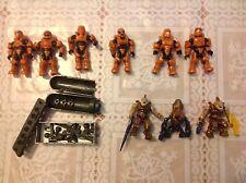 Halo Mega Bloks Construx Promethean Strike UNSC Spartan + Jackal/Grunt Lot