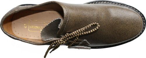 pelle di pelle Haferlschuhe in Trachtenschuhe color liscia Scarpe screpolata kaki pqXratXW