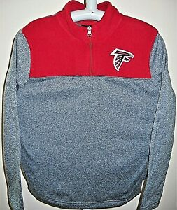 eec3848d Details about ATLANTA FALCONS KIDS CHILD LARGE SIZE 7 PULLOVER 1/4-ZIP  EMBROIDERED LOGO JACKET