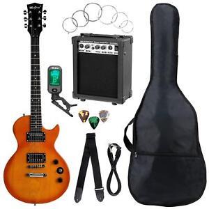 electric guitar set kit amplifier tuner gigbag strap strings picks orange burst 4260534611486 ebay. Black Bedroom Furniture Sets. Home Design Ideas