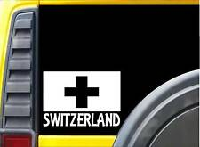 Switzerland flag Sticker k237 8 inch swiss decal
