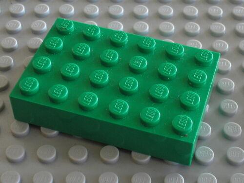 Plaque epaisse green Brick 4 x 6 ref 2356 LEGO Set 4406 7795 4165 6095 ...