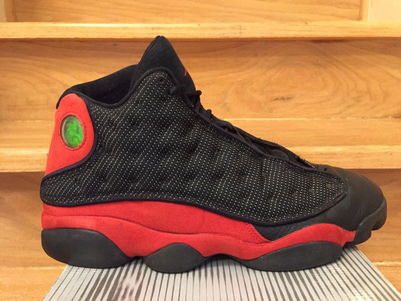 2004 Nike Air Jordan 13 Retro Bred Black/True Red/3M Reflective Size 10.5 Shoes