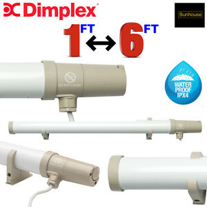 SUNHOUSE TUBULAR HEATERS THERMOSTATIC 1 2 3 4 5 & 6FT LOW OUTPUT ECO DIMPLEX