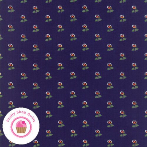 Moda PROVENCAL 21736 16 Navy Blue Floral AMERICAN JANE Quilt Fabric French
