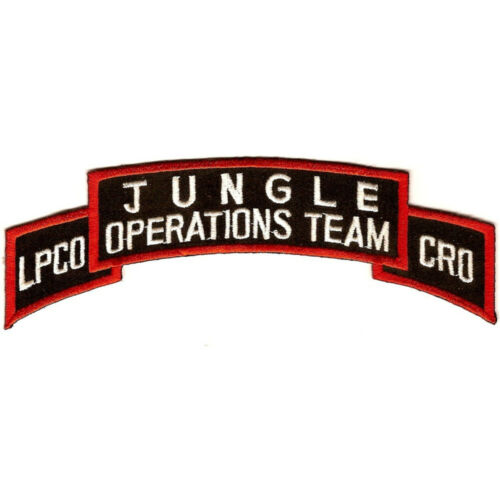 DEA Drug Enforcement Agency Jungle Operations Team LPCO CRO Patch
