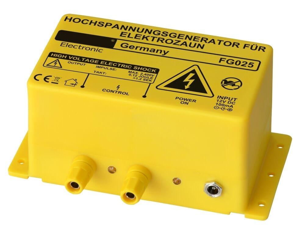 12V ELECTRIC FENCE ENERGISER - 2400V OUTPUT - PHEASANT PEN ENERGISER