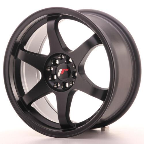"Un Cerchio in Lega Japan Racing JR3 17/"" x 8/"" ET35 4 x 100 114 Nero Opaco"