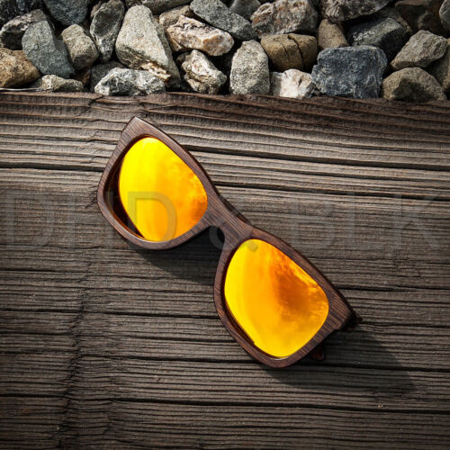 Vintage Men Women Bamboo Sunglasses Polarized Wooden frame glasses Wood case