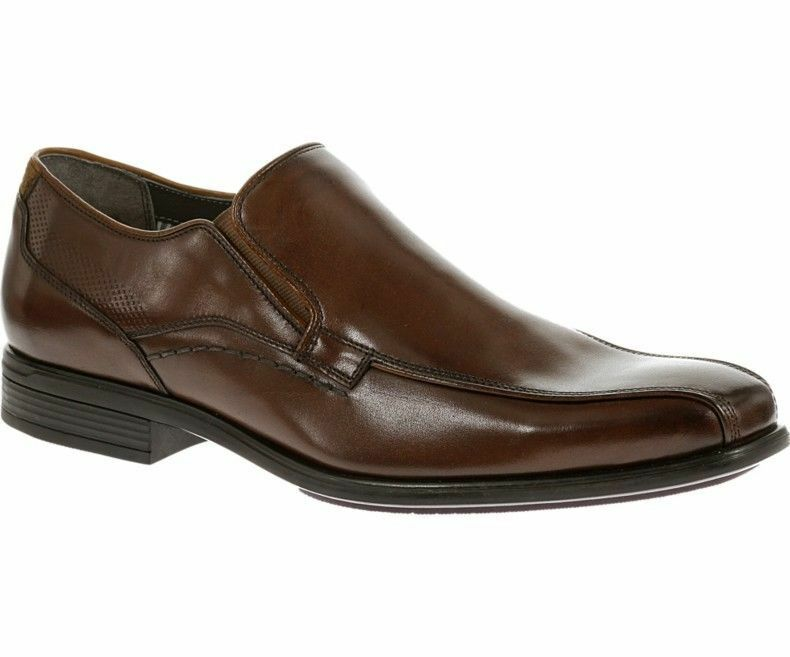 Hush Puppies Carter Maddow Herren Slipper Leder-Slipper Braune Schuhe    | Elegant