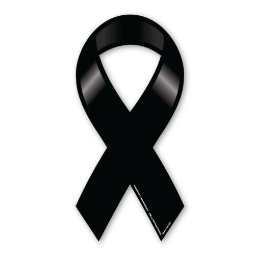 Plain Black Remembrance Ribbon Magnet