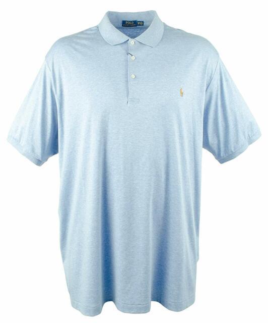 Ralph Lauren Mens Soft Touch Rugby Polo Shirt Modbluehe 4xlt - Big & Tall