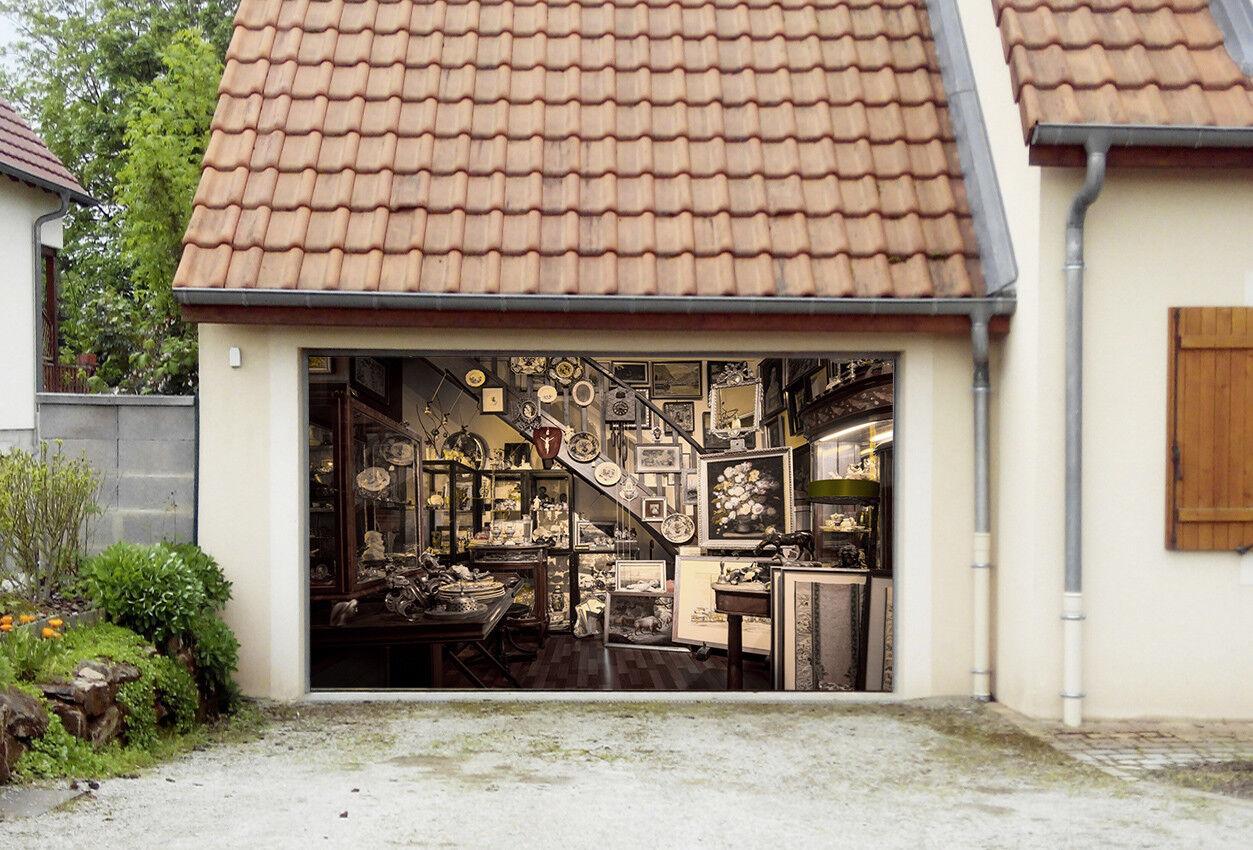 3D Artwork Cabin 43 Garage Door Murals Wall Print Wall AJ WALLPAPER UK Lemon
