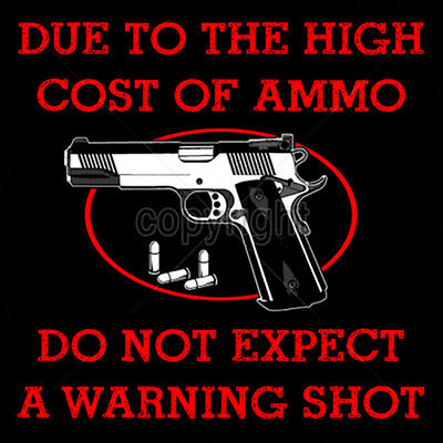 Due to Cost of Ammo We no Longer Fire a Warning Shot Pistol Revolver Patriotic American Embroidered Beanie Stocking Cap