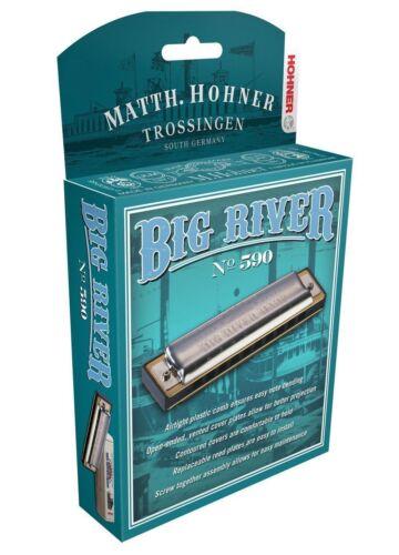 HOHNER BIG RIVER 590 HARMONICA F HARP BRAND NEW IN CASE SALE