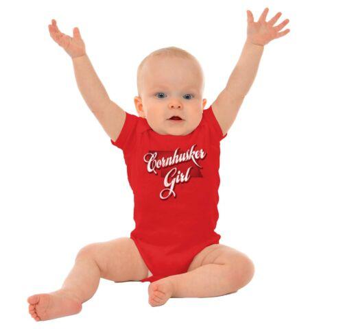 Nebraska Fashion Cornhusker Girl Trendy State Girls Youth Newborn Infant Rompers