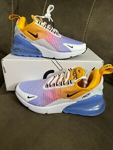 Women S Nike Air Max 270 Gradient University Gold Black Blue