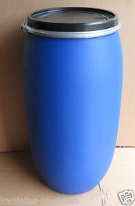 150 liter wasserfass regenfass kunststofffass plastikfass gep cktonne ebay. Black Bedroom Furniture Sets. Home Design Ideas