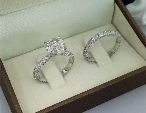 2.00 Ct Round-Cut Diamond Solitaire Bridal Engagement Ring 14K White Gold Finish