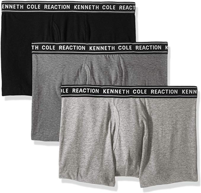 3 Pk Kenneth Cole New York Mens Cotton Stretch Trunk