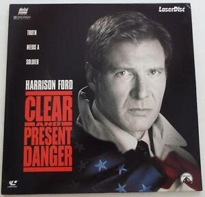 CLEAR-AND-PRESENT-DANGER-Harrison-Ford-LASERDISC-Dolby-Digital-Surround