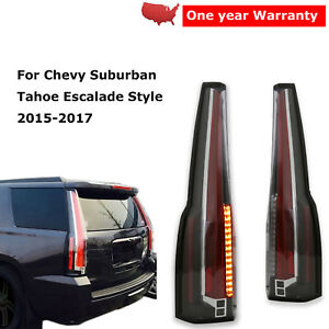 Image Is Loading Led Tail Lights Rear Lamp Pair For Chevy
