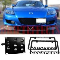 04-08 Mazda Rx-8 License Plate Tow Mounting Bracket Holder Adaptor Kit+frames