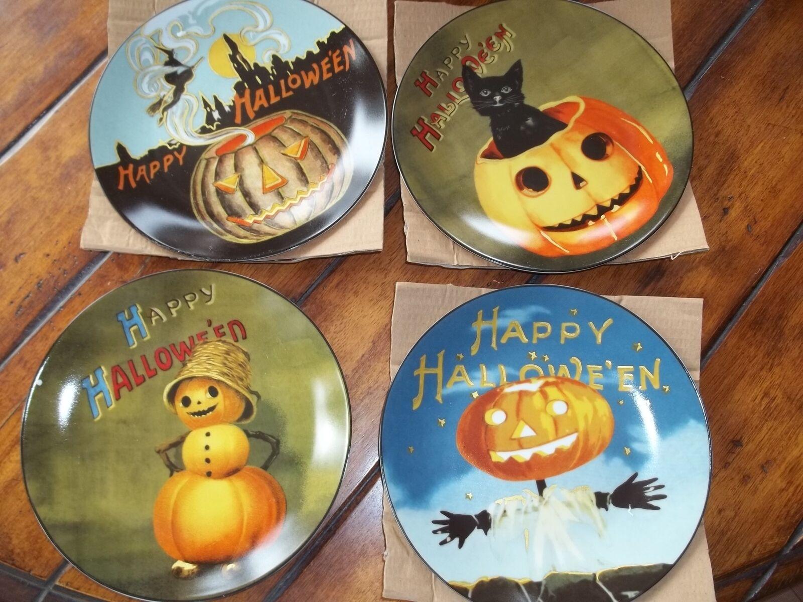 Nouveau Williams Sonoma vintage Halloween salade plaques, Set de 4
