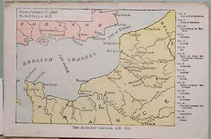 Landkarte Die Agincourt Campaign 1415 N. Chr. England Route Von Edward III Henry