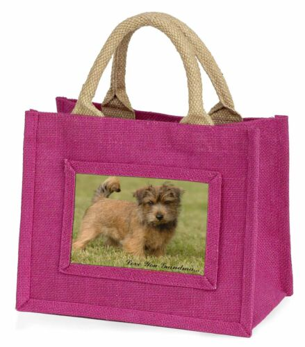 Norwich Norfolk Terrier 'Grandma' Little Girls Small Pink Shopping, ADNT1lygBMP