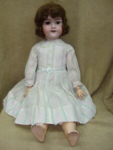 """Fast Color Wig Doll Antique Armand & Marsielle Germany 390 26"""" Bisque Head Jointed N.h"""