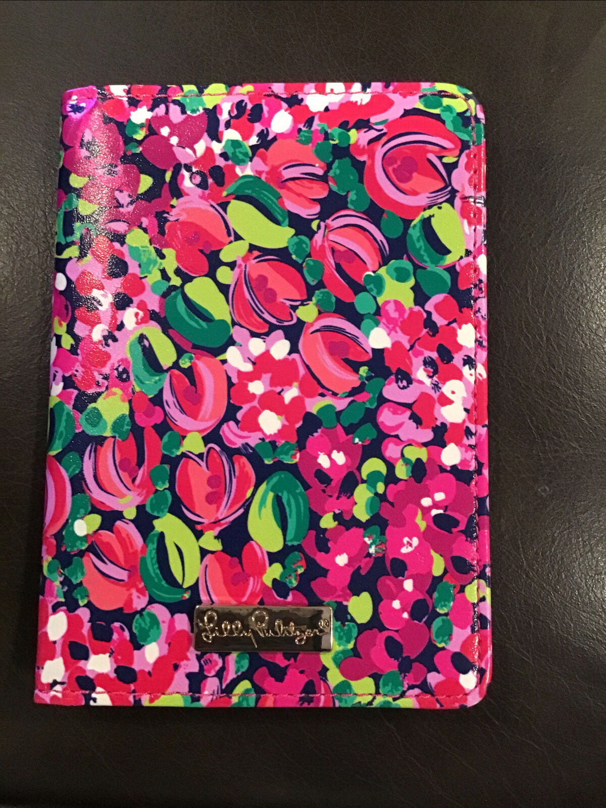 lilly pulitzer Floral bound credit card billfold Wallet 5 1/2 x 4