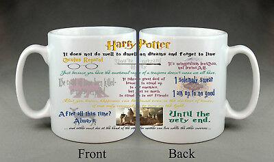 Harry Potter Mug Movie Quotes Film Birthday Gift Present Mug House Friend