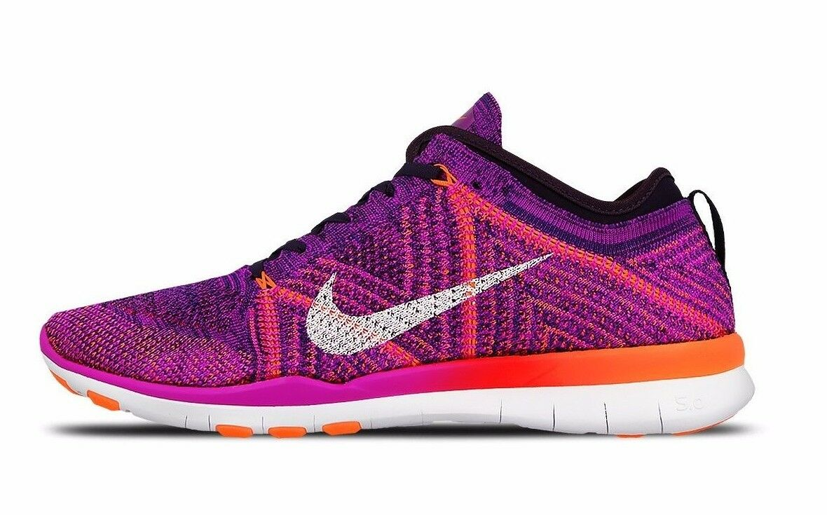 NIKE Schuhe WOMEN'S FREE TR FLYKNIT Schuhe NIKE SIZE 10.5 violet WEISS crimson 718785 502 3abcd9