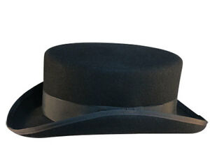 6a7759fec33 Image is loading Black-Top-Hat-with-Short-Crown