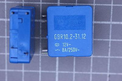 Spule 12V 5x GBR10.2-31.12 Leiterplattenrelais 1x Schließer 8A