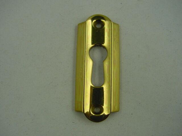 Schlüssellochblende,Möbelbeschlag,Schlüsselloch 50 / 60er Jahre Messing massiv