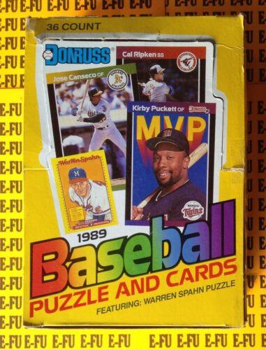 1989 Donruss Baseball Full Wax Box 36 Sealed Packs KEN GRIFFEY JR Schilling RC