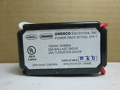 6-Pack Universal Energy Control 211-1 Power Pack 120VAC 20A Ballast Tungsten