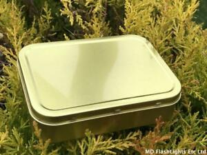 2OZ GOLD TOBACCO STORAGE TINS WITH RUBBER SEAL BUSHCRAFT SURVIVAL CAMPING
