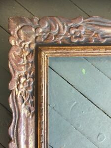 Vtg Mid Century Wood Frame Carved French Antique Gold 24 X 30 Ebay